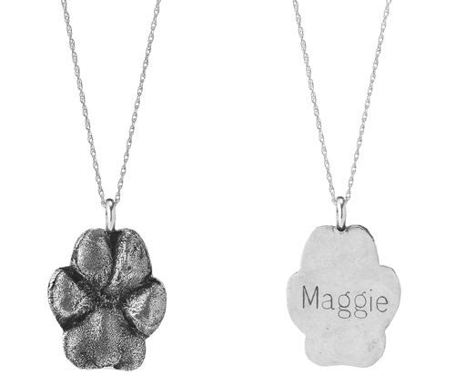 Dog Paw Charm in Sterling Silver