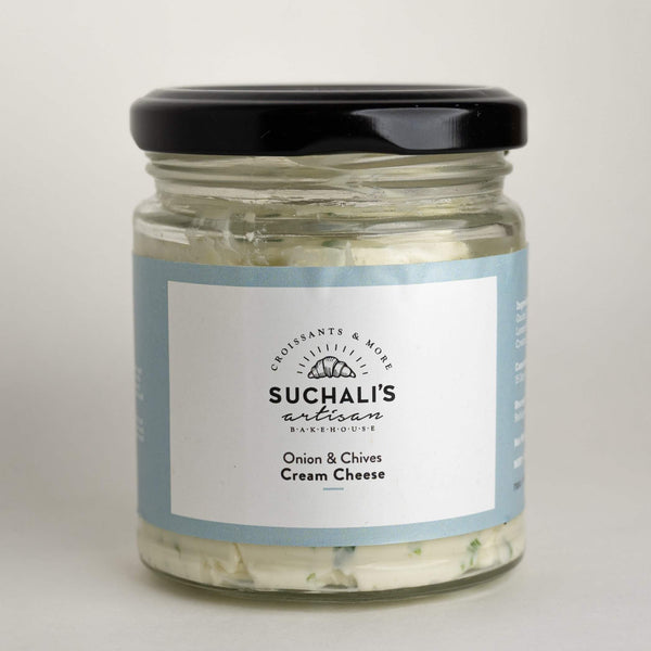 Onion & Chives Cream Cheese - 180g - Suchalis Artisan Bakehouse