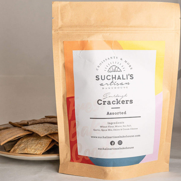 Sourdough Crackers ASSORTED - Suchalis Artisan Bakehouse