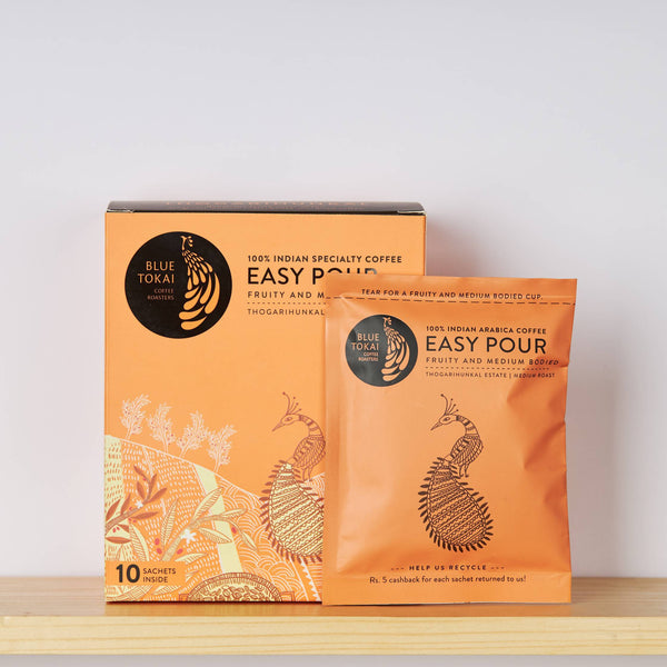 Easy Pour - Thogarihunkal Estate - Medium Roast (Pack of 10 sachets)