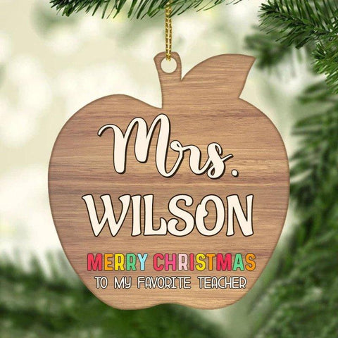 Merry Christmas To My Favourite Teacher Personalized Ornament
