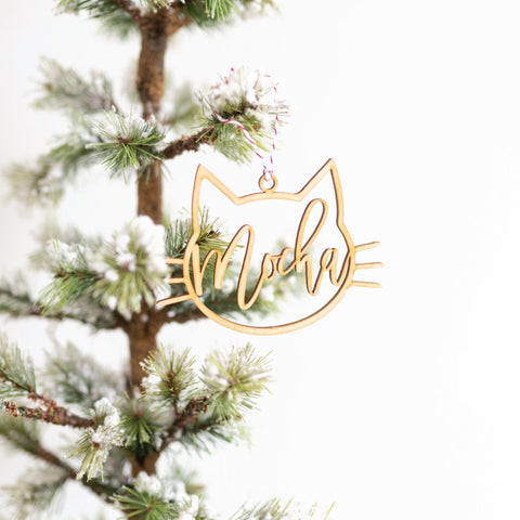 Personalized Cat Ornament With Name