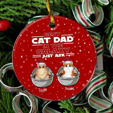Best Cat Dad Star Wars Personalized Christmas Ornament
