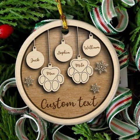 Pet And Family Personalized Ornament