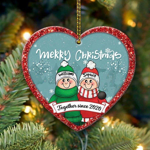Cute Couple Together Ornament