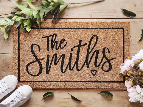 Family Name Personalized Coconut Fabric Doormat