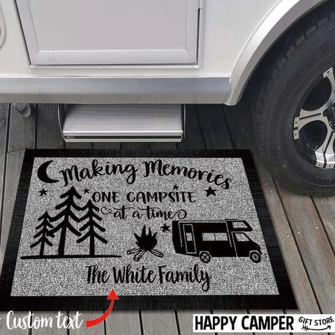 Personalized Christmas Doormat For Family Camper