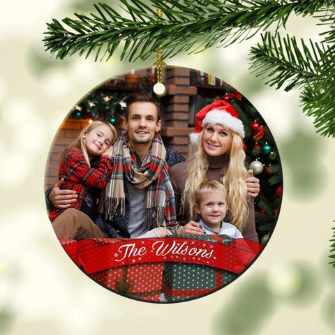 Family Personalized Christmas Photo Ornament