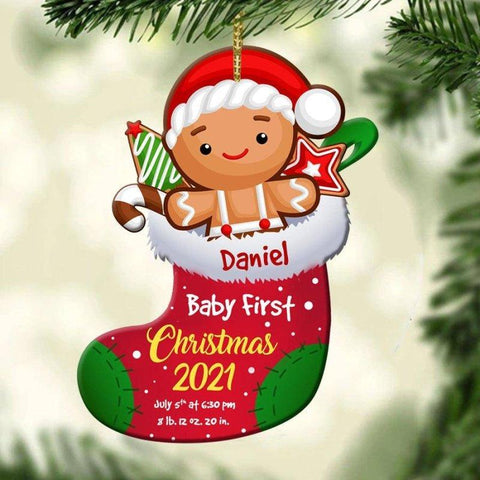 Ginger Baby First Christmas Ornament