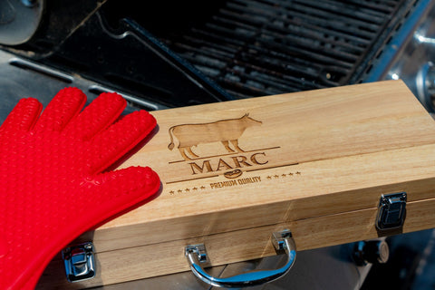 Engraved BBQ Grill Set