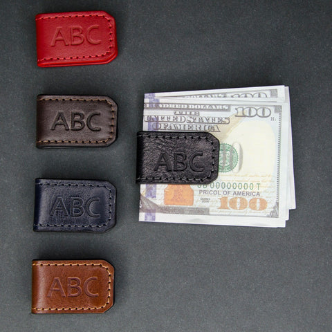Personalized Leather Clip