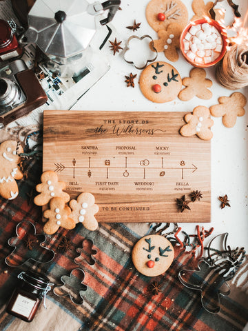 Family Timeline Cutting Board