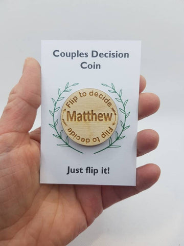 Custom Decision Coin For Couples