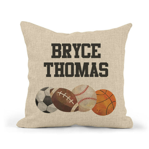 Sport Pillow With Name