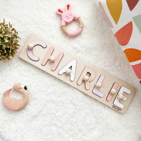 Custom Name Puzzle For Baby Girl