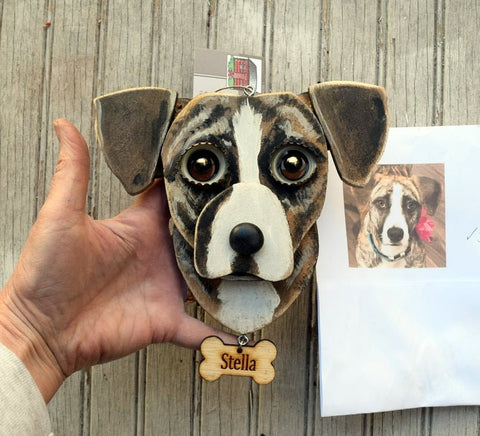 Dog's Face Personalized Ornament
