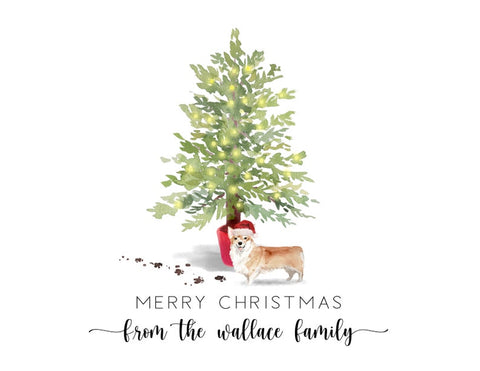 Personalized Christmas Card With Dog