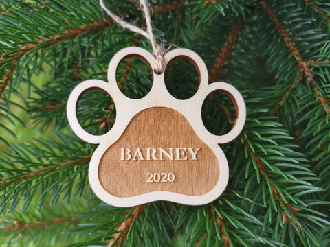 Personalized Dog Christmas Tree Bauble