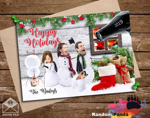 Personalized Funny Christmas Card