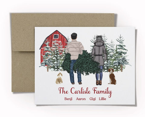 Personalized Watercolor Christmas Cards