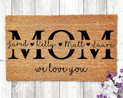 For Mom Christmas Personalized Doormat