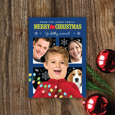 Personalized Movie Christmas Card