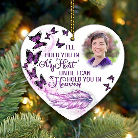 Hold You in My Heart Personalized Photo Ornament