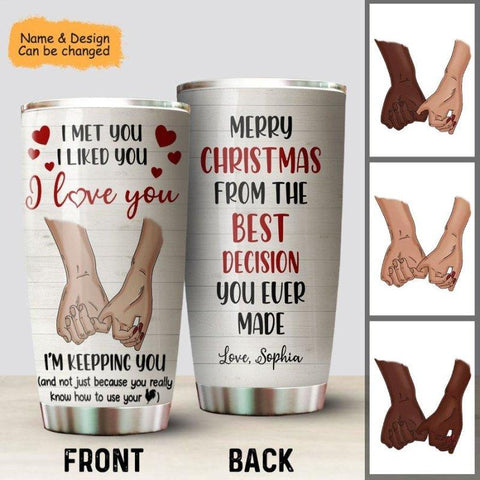 I Love You Personalized Tumbler For Him
