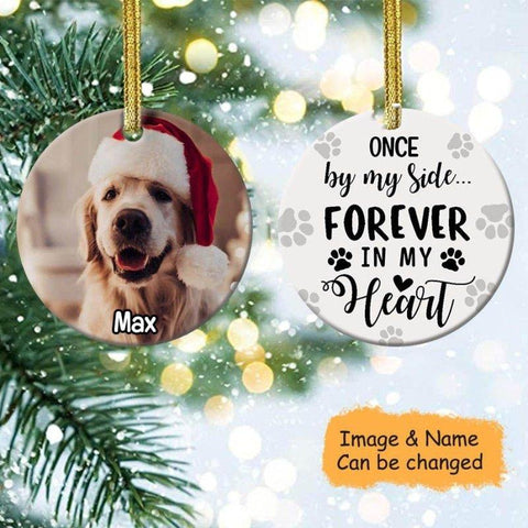 Always In My Heart Personalized Dog Photo Ornament