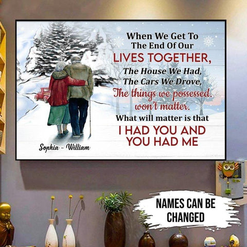 Old Couple Personalized Wall Art