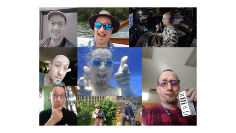 A collage of pictures of Jeremy Shantz.