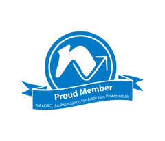 Proud Member NAADAC, the Association for Addiction Professionals