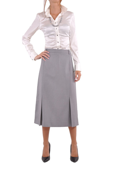 Office Stripe Light Gray Skirt # CA-0258C