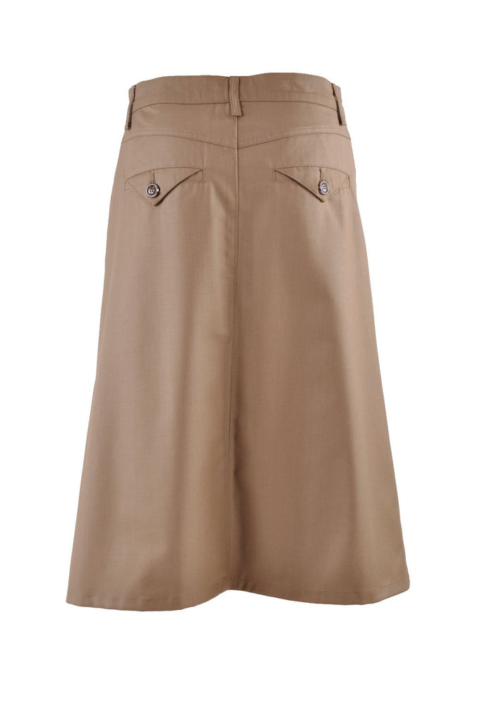 Sleek Chic Khaki Skirt # CA-0547