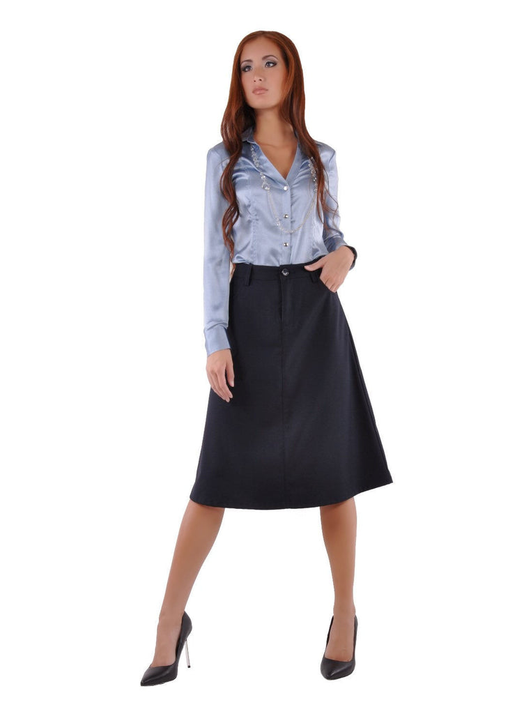 Sleek Chic Navy Skirt # CA-0551