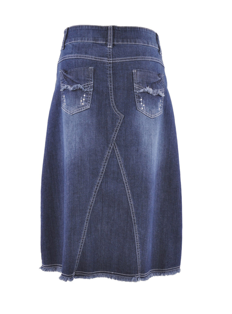Country Chic Denim Skirt # CA-0593