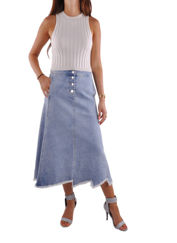 Blue Sky Jean Skirt # CA-0642
