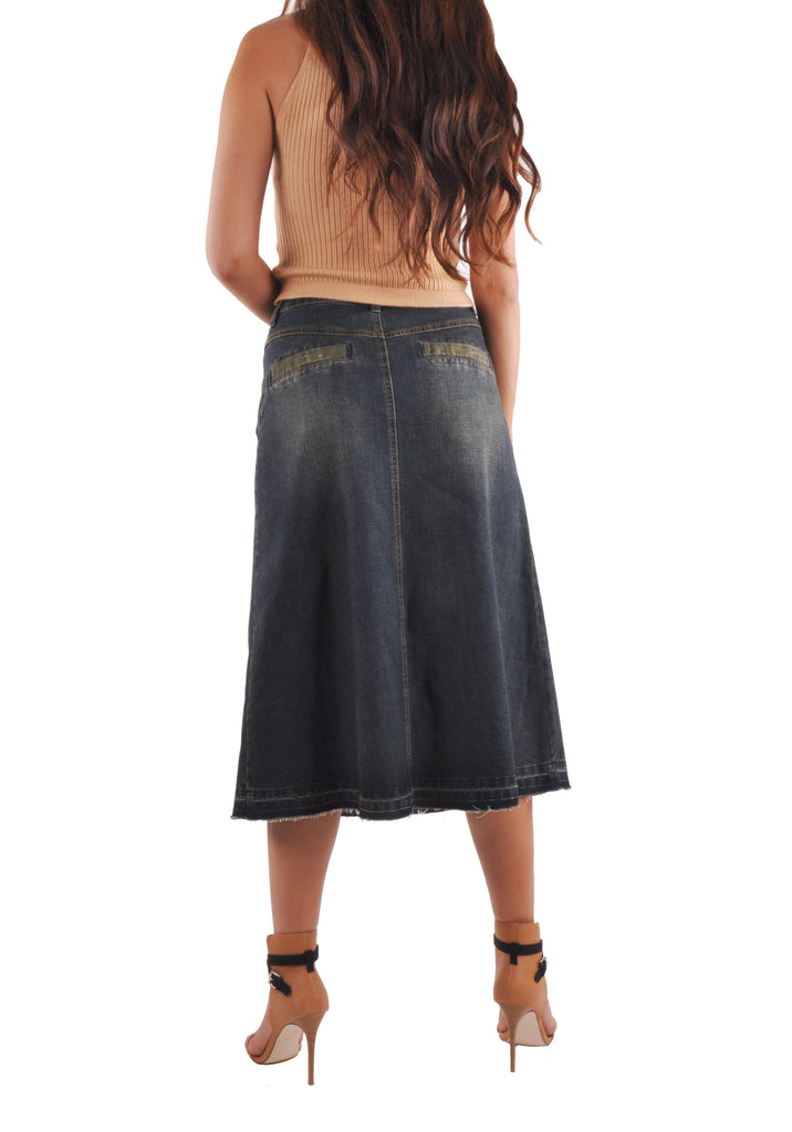 Everyday Vintage Jean Skirt # CA-0643