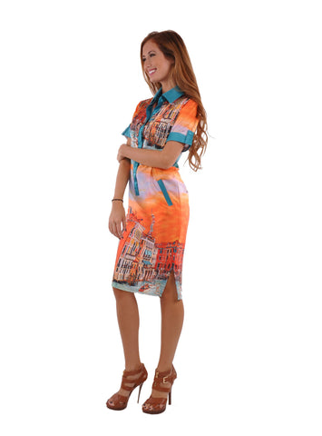 European Print Fashion Dress # DR-0010