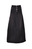 Victoria Black Long Denim Skirt # ET-0644