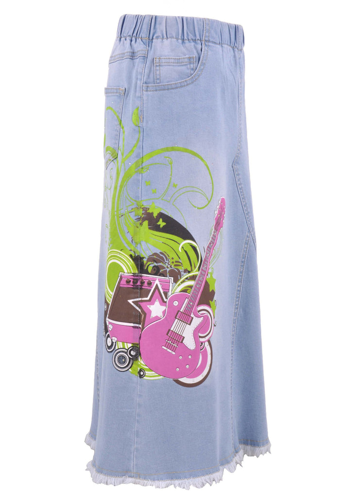 Pretty Rockstar Girls Denim Skirt # GL-0472