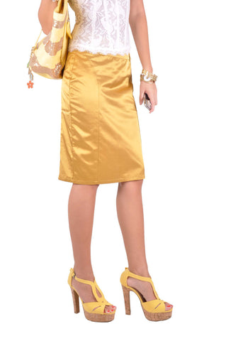 Golden Pencil Skirt # KN-0256