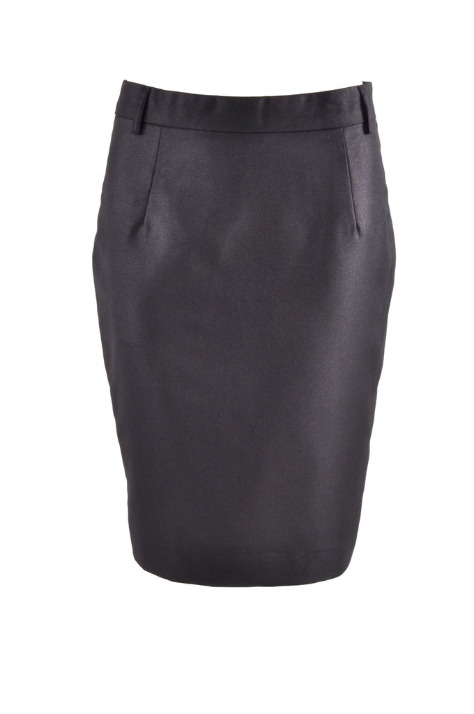 Pencil Shimmer Black Skirt # KN-0279C