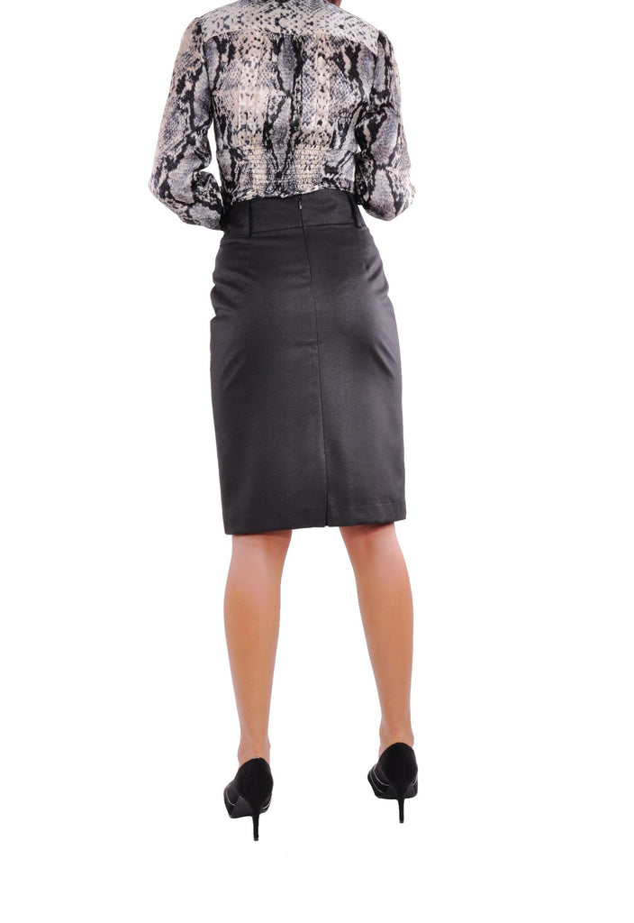 Row Buttons Black Skirt # KN-0292D