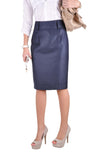 Professional Blue Pencil Skirt # KN-0304C