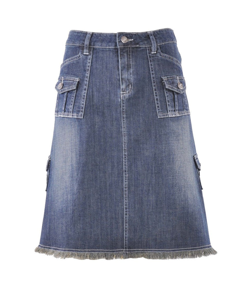 Fabulous 'N Pockets Denim Skirt # KN-0557