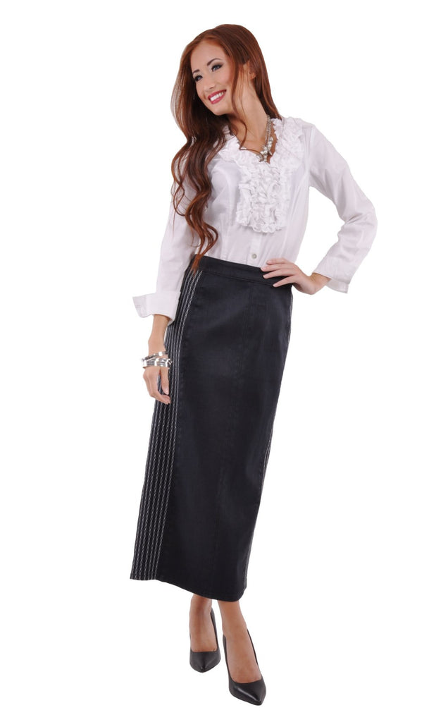 Office Chic Denim Skirt # PE-0536