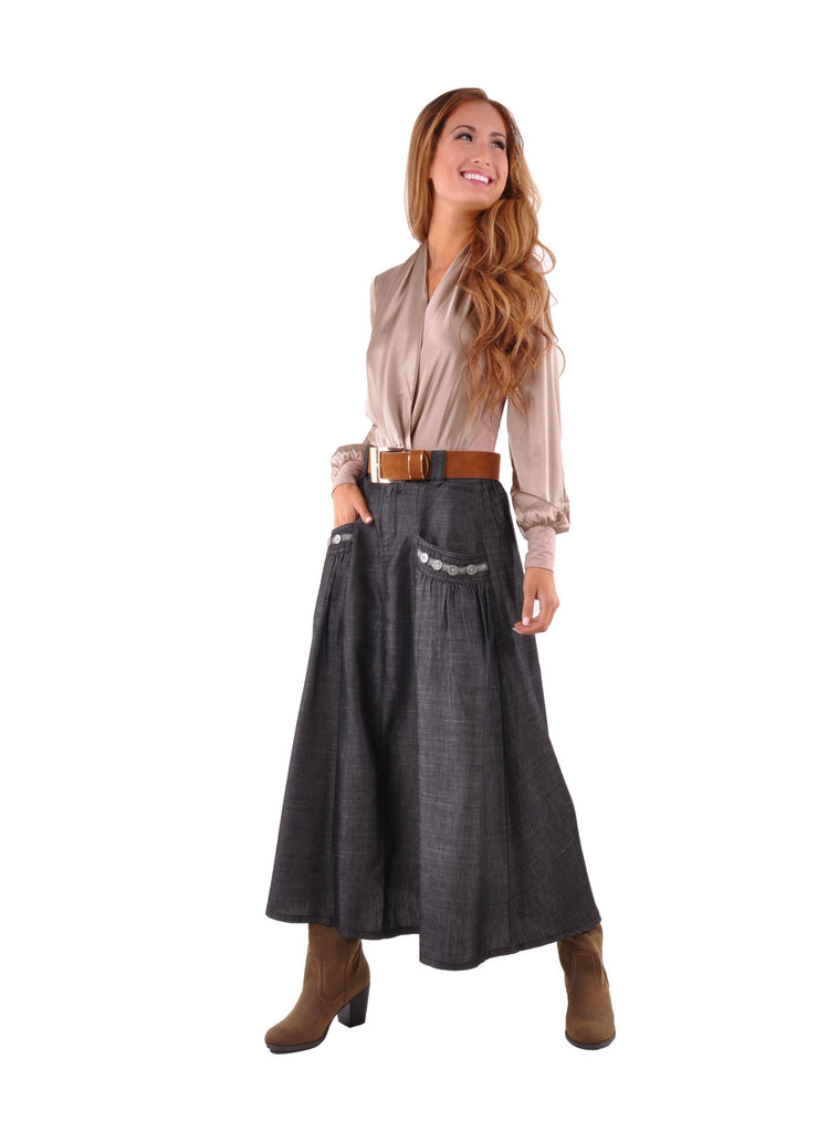 relaxing chambray denim skirt pe 0615 style j fashion