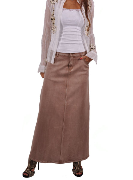 Blond Chic Long Denim Skirt # RE-0529