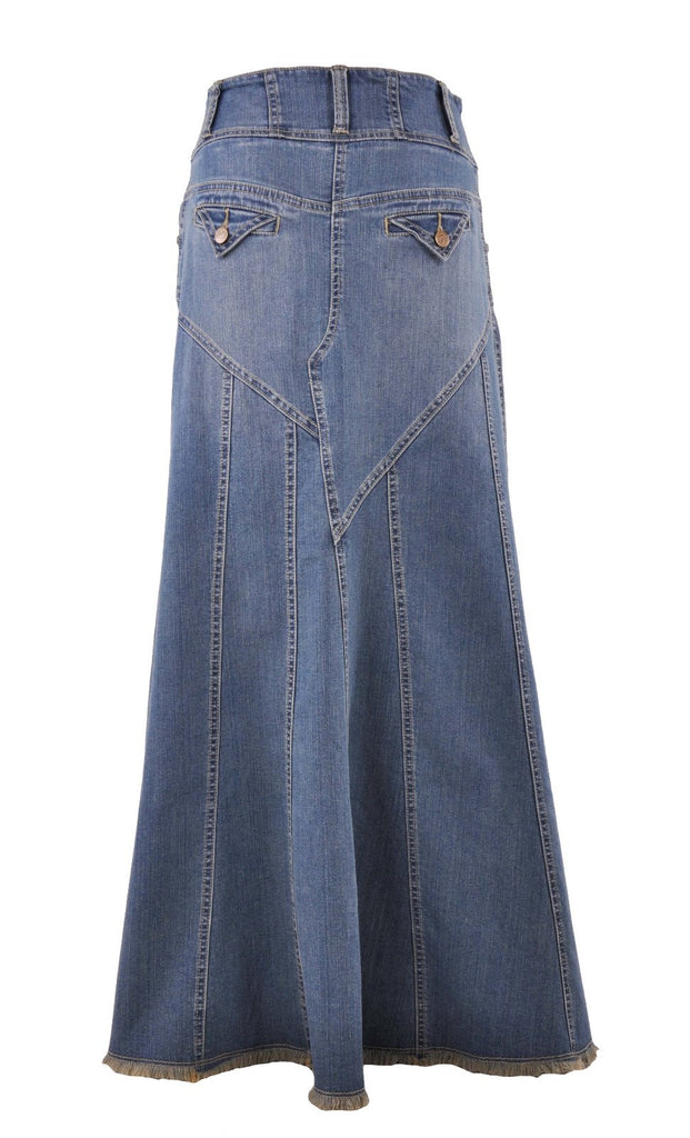 Fantastic Flared Long Jean Skirt # RE-0543